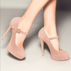 NWT Shoemint Molly Blush Suede Heels